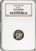 Proof Roosevelt Dimes, 1963 10C Doubled Die PR67 Cameo NGC. PCGS Population (2/0).(#5224)...