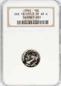 Proof Roosevelt Dimes, 1963 10C Doubled Die Reverse PR68 W NGC. FS-017.5. PCGS Population(2/1). (#5224)...