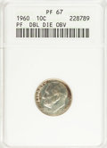Proof Roosevelt Dimes: , 1960 10C Doubled Die Obverse PR67 ANACS. PCGS Population (5/1).(#5223)...