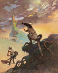 Original Comic Art:Illustrations, Frank Frazetta Pony Tail (The Tritonian RingPaperback Cover) Original Art (Paperback Library, 1967)....