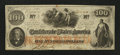 Confederate Notes:1862 Issues, T41 PF-7 or 12 $100 1862.. ...