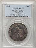 Bust Half Dollars: , 1828 50C Curl Base 2, No Knob XF45 PCGS. O-103, R.2. PCGSPopulation (53/415). NGC Census: (79/739). Mintage: 3,075,200.Nu...