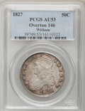 Bust Half Dollars, 1827 50C Curl Base 2 AU53 PCGS. O-146. R.2. PCGS Population(10/39). (#6144). From The Witham Collec...