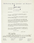 Autographs:Others, 1921 First Partnership Between Babe Ruth & Christy Walsh SignedDocument....