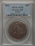 Bust Half Dollars, 1832 50C Large Letters AU53 PCGS. O-101. PCGS Population (9/66).NGC Census: (0/0). (#6160). From The Witham Collection...