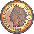 Proof Indian Cents, 1859 Indian 1C PR67+ ★ NGC....