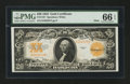 Large Size:Gold Certificates, Fr. 1187 $20 1922 Mule Gold Certificate PMG Gem Uncirculated 66EPQ.. ...