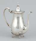 Silver Holloware, American:Coffee Pots, A SILVER COFFEE POT. Probably American, circa 1925. Marks:STERLING. 8-1/2 inches high (21.6 cm). 14.58 troy ounces(app...