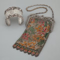 Silver Smalls:Other , AN AMERICAN SILVER AND ENAMEL PURSE AND SILVER CUFF. GorhamManufacturing Co., Providence, Rhode Island, circa 1900. Marks:...(Total: 2 Items Items)