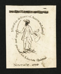 Colonial Notes:Massachusetts, Reprint of Sword in Hand Note New.. ...