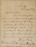 """Autographs:Statesmen, Sam Houston Autograph Letter Signed as the seventh governor ofTexas. One page, 6.25"""" x 8"""", Austin, May 28, 1860. Governor H...(Total: 2 Items)"""
