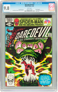 Daredevil #177 (Marvel, 1981) CGC NM/MT 9.8 White pages