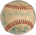 Autographs:Baseballs, 1950 Philadelphia Athletics Team Signed Baseball....