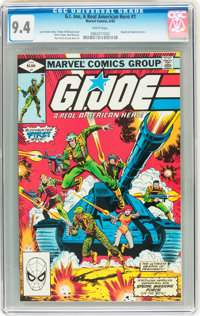 G. I. Joe, A Real American Hero #1 (Marvel, 1982) CGC NM 9.4 White pages