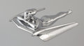 Pin-up and Glamour Art, Designed by GEORGE PETTY (American, 1894-1975). Nash AmbassadorSedan, hood ornament, 1954. Chrome plated metal. 10.5 x ...(Total: 2 Items)