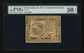 Colonial Notes:Continental Congress Issues, Continental Currency November 29, 1775 $6 PMG About Uncirculated 50EPQ.. ...