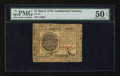 Colonial Notes:Continental Congress Issues, Continental Currency May 9, 1776 $7 PMG About Uncirculated 50 EPQ.....