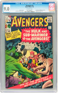Silver Age (1956-1969):Superhero, The Avengers #3 (Marvel, 1964) CGC VF/NM 9.0 Off-white pages....