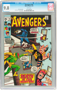 The Avengers #74 (Marvel, 1970) CGC NM/MT 9.8 White pages