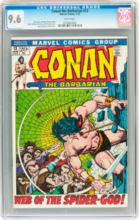 Conan the Barbarian #13 (Marvel, 1972) CGC NM+ 9.6 White pages