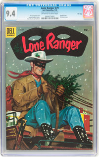 Lone Ranger #79 File Copy (Dell, 1955) CGC NM 9.4 Off-white to white pages