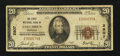 National Bank Notes:Nebraska, Columbus, NE - $20 1929 Ty. 1 The First NB Ch. # 2807. ...