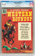 Silver Age (1956-1969):Western, Dell Giant Comics Western Roundup #23 File Copy (Dell, 1958) CGC NM 9.4 Off-white to white pages....