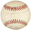 Autographs:Baseballs, 1969 St. Louis Cardinals Team Signed Baseball (22 Signatures). ....