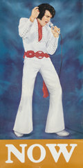 Music Memorabilia:Posters, Elvis Now Poster (1975)....