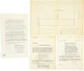 Music Memorabilia:Documents, Elvis Presley and Parents Signed Graceland Purchase Agreement....