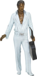 Music Memorabilia:Original Art, Elvis Presley Painted Bronze Statue....