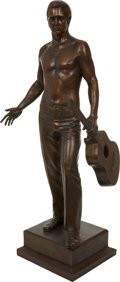 Music Memorabilia:Original Art, Elvis Presley Large Bronze Statue....