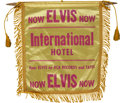 Music Memorabilia:Memorabilia, Elvis Presley International Hotel Mini Banner....