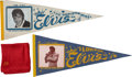 Music Memorabilia:Costumes, Elvis Presley's Monogrammed Scarf with Vintage Pennants.... (Total:3 Items)