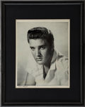 Music Memorabilia:Autographs and Signed Items, Elvis Autographed and Framed Photo (1963)....