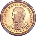 Commemorative Gold, 1904 G$1 Lewis and Clark MS67 ★ NGC. CAC....