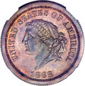 Patterns, 1868 $5 Dual Denomination $5-25 Francs, Judd-656, Pollock-729, LowR.7, PR66 Brown NGC....
