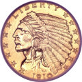 Proof Indian Quarter Eagles, 1910 $2 1/2 PR64 PCGS. CAC....