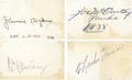 Autographs:Index Cards, Baseball Stars and Hall of Famers Signed Cut Signatures Lot of 4. ....