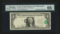Error Notes:Shifted Third Printing, Fr. 1908-I $1 1974 Federal Reserve Note. PMG Gem Uncirculated 66 EPQ.. ...