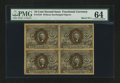 Fractional Currency:Second Issue, Fr. 1244 10¢ Second Issue Block of Four PMG Choice Uncirculated 64.. ...