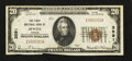 National Bank Notes:Kansas, Jewell, KS - $20 1929 Ty. 1 The First NB Ch. # 3591. ...