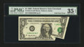 Error Notes:Foldovers, Fr. 1921-D $1 1995 Federal Reserve Note. PMG Choice Very Fine 35EPQ.. ...
