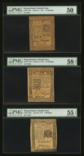 Colonial Notes:Pennsylvania, Mixed Lot of Five About Uncirculated Pennsylvania Colonials. . ...(Total: 5 notes)