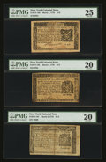 Colonial Notes:New York, Three Fractional Notes New York March 5, 1776.. ... (Total: 3notes)