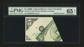 Error Notes:Foldovers, Fr. 1971-D $5 1969B Federal Reserve Note. PMG Gem Uncirculated 65EPQ.. ...
