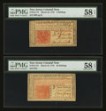 Colonial Notes:New Jersey, New Jersey March 25, 1776 3s and 30s PMG Choice About Unc 58 EPQ.. ... (Total: 2 notes)