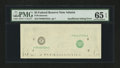 Error Notes:Missing Face Printing (<100%), Fr. ?-F $5 Federal reserve Note PMG Gem Uncirculated 65 EPQ.. ...