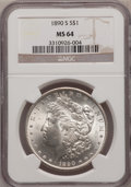 Morgan Dollars: , 1890-S $1 MS64 NGC. NGC Census: (1903/351). PCGS Population (2659/728). Mintage: 8,230,373. Numismedia Wsl. Price for probl...