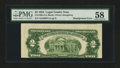 Error Notes:Skewed Reverse Printing, Fr. 1509 $2 1953 Legal Tender Note. PMG Choice About Unc 58.. ...